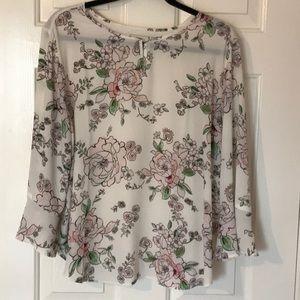 Van Heusen Floral Blouse Size XL